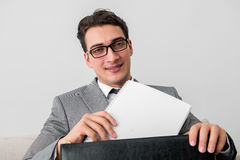 The businessman with briefcase in business concept Royalty Free Stock Photos