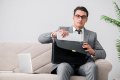 The businessman with briefcase in business concept Royalty Free Stock Photography