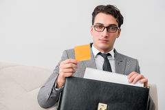 The businessman with briefcase in business concept Royalty Free Stock Photo