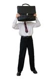 Businessman with a briefcase instead of a head Royalty Free Stock Photo