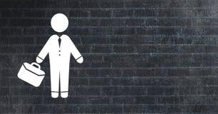 Businessman with briefcase icon. Digital composite of businessman with briefcase icon Stock Images