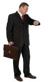 Businessman with briefcase isolated on white background Royalty Free Stock Image