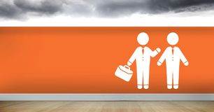 Businessman with briefcase meeting man icon. Digital composite of Businessman with briefcase meeting man icon Royalty Free Stock Images