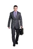 Businessman with briefcase Stock Image