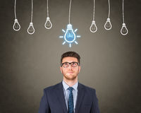 Businessman Bright Idea. Working Conceptual Business Concept Royalty Free Stock Photo