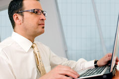 Businessman - browsing www Royalty Free Stock Image