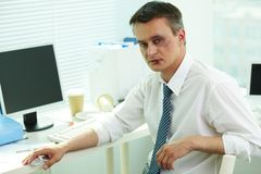 Businessman with bruise Stock Image