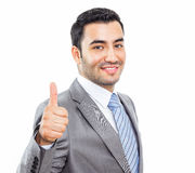 Businessman with bruised eyes and head Stock Photo