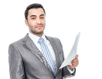 Businessman with bruised eyes and head Stock Photos