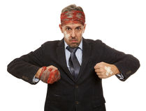 Businessman with bruised head Royalty Free Stock Photo
