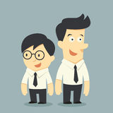 Businessman buddy. For cartoon concept stock illustration