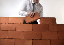 Businessman building Royalty Free Stock Photography