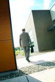 Businessman and buildings  Royalty Free Stock Image