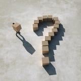 businessman builds a question vector illustration