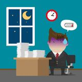 Businessman Burnout Syndrome Royalty Free Stock Image