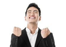Businessman bursting with joy Stock Photos