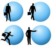 Businessman Business Bubbles Stock Photos