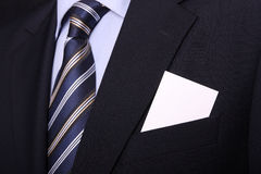 Businessman with business card Stock Image