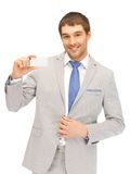Businessman with business card Royalty Free Stock Photography