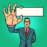 Businessman with business card form Vector Illustration