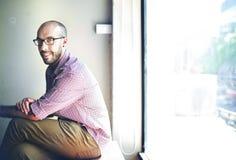 Businessman Business Confident Smile Attractive Vision Concept Stock Images