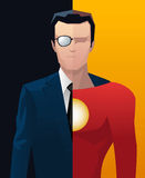 Businessman business executive superhero Royalty Free Stock Photography