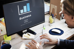 Businessman Business Graphic Design Concept Stock Images