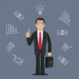 Businessman business idea Stock Photography