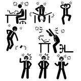 Businessman Business Man Stress Pressure Workplace Stick Figure Pictogram Icon Stock Photos