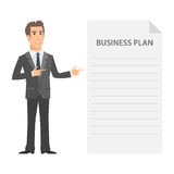 Businessman and business plan concept. Illustration, businessman and business plan concept, format EPS 10 Stock Photography