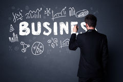 Businessman with business plan Royalty Free Stock Images