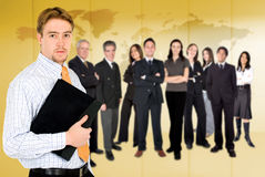 Businessman with business team Royalty Free Stock Image