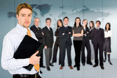 Businessman with business team Stock Photos