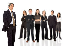 Businessman with business team Stock Photo
