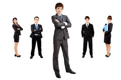 Businessman with business team Royalty Free Stock Photography