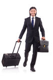 Businessman on business trip Royalty Free Stock Photography