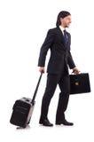 Businessman on business trip Stock Photo