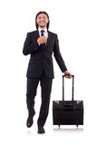 Businessman on business trip Stock Photo