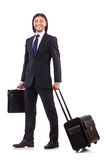 Businessman on business trip Royalty Free Stock Photos