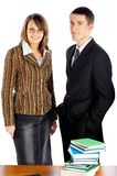 Businessman and businesswoman Stock Photos