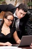 Businessman and businesswoman Stock Photos