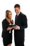 Businessman and Businesswoman Royalty Free Stock Image