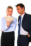 Businessman and businesswoman Royalty Free Stock Images