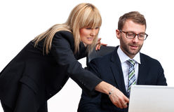 Businessman and a businesswoman Stock Images