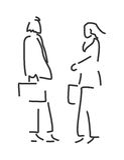 Businessman and businesswoman vector illustration