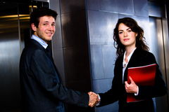 Businessman and businesswoman Stock Images