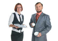 A businessman and businesswoman Royalty Free Stock Image