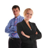 Businessman and businesswoman Stock Image