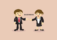 Businessman and Businesswoman Cartoon Vector Illustration Royalty Free Stock Images