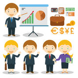 Businessman and businesswoman characters vector illustration vector illustration